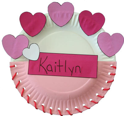 Paper Plate Valentine's Day Card Holder