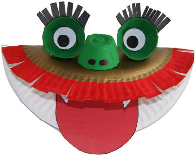 New years dragon paper plate craft preschool education for New year s crafts for preschoolers
