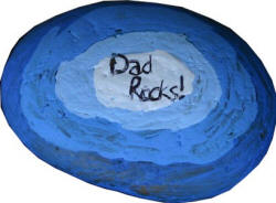 Dad Rocks! paperweight