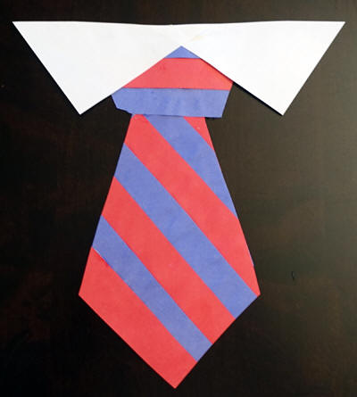 Paper Strip Necktie Craft