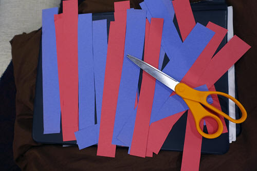 paper strips for the balloon craft