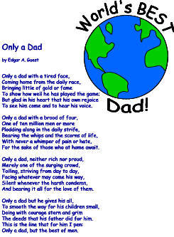 Only a Dad by Edgar Guest