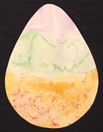 easter shapes water color craft