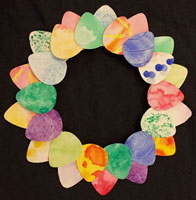 wreath water color craft