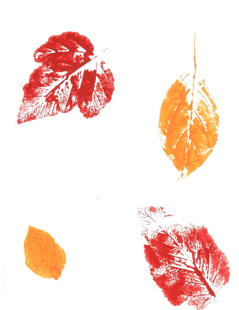 leaf print ideas