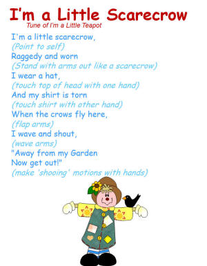 I'm a Little Scarecrow Song