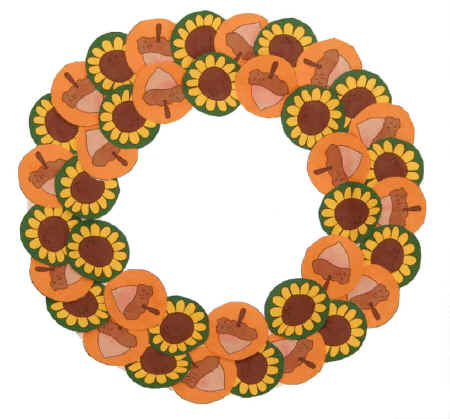 autumn wreath Paper Plate Autumn Wreath  sc 1 st  DLTK-Holidays & Paper Plate Fall Wreath