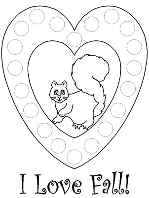 Fall do a dot coloring pages