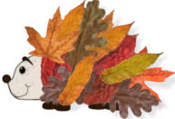 Autumn leaf hedgehog craft