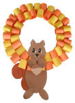 Autumn Squirrel Wreath Craft