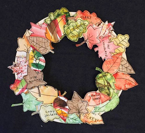 Water Color Autumn Wreath