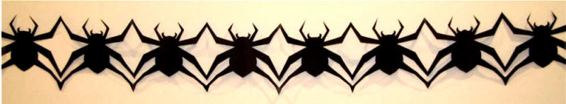 Fold And Cut Spider Chain Templates