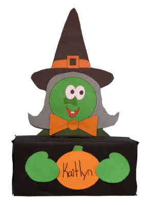 Witch box for halloween for Dltk crafts for kids