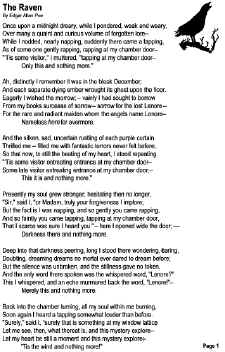 meaning of the poem the raven by edgar allan poe