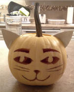 cat carving pattern