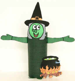 witch toilet paper roll craft