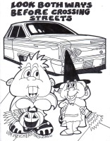 IBSD Halloween Safety Coloring Page 2