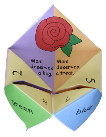 Mothers Day Origami Fortune Teller