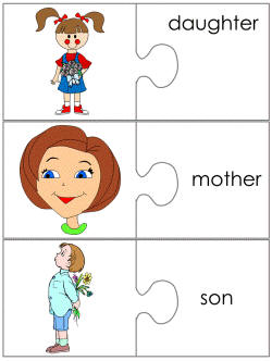 Mother 39 s day jigsaw word match worksheets for Jigsaw puzzle template for word