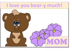 Bear Card For Mothers Day