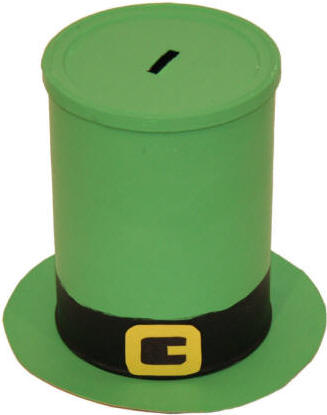 coffee can leprechaun hat for st patrick s day