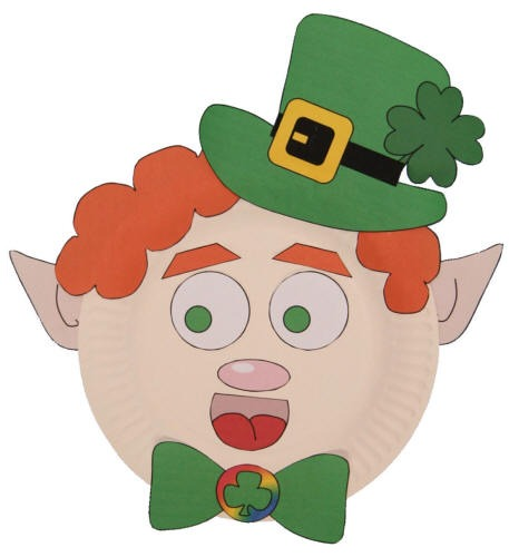 Leprechaun Paper Plate Craft