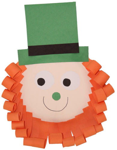 Leprechaun Paper Plate Craft No Template Version