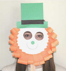 leprechaun mask template - leprechaun paper plate craft no template version