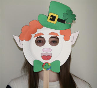 leprechaun mask template - leprechaun paper plate craft