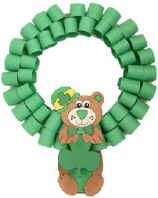 St.  Patrick's Day bear wreath