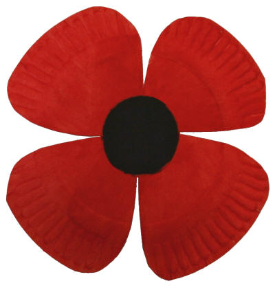 Remembrance Day Crafts Poppy Template