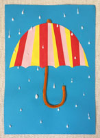 Umbrella Paper Strip Craft