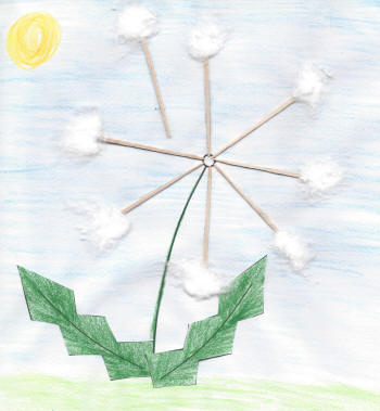 image about Printable Seeded Paper known as Dandelion Seed Paper Craft