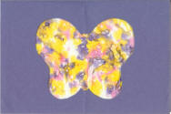 butterfly stained glass craft