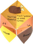Thanksgiving Fortune Teller