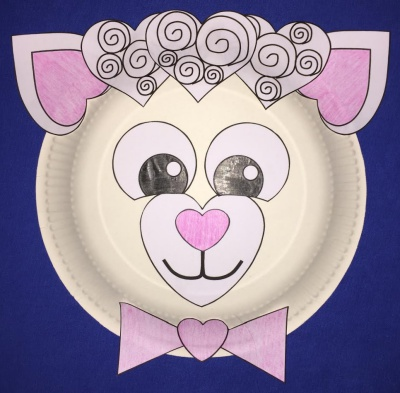 sc 1 st  DLTK-Holidays & Heart Lamb Paper Plate Craft