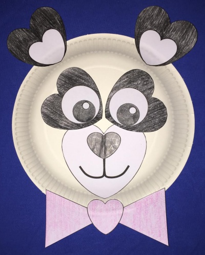 : paper plate puppet - pezcame.com