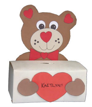 bear box craft for valentine s cards