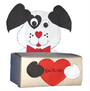 Easy Craft Ideas on Dog Box Craft For Valentine S Cards
