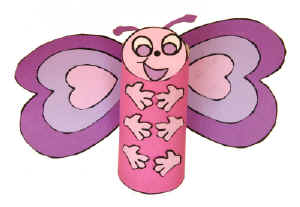 Valentine S Day Butterfly Craft For Kids