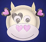 Heart Cow Paper Plate Craft
