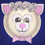 Heart Lamb Paper Plate Craft