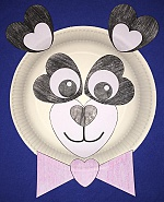 Heart Panda Paper Plate Craft