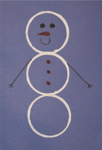 Paper Cup Circle Snowman Craft For Winter