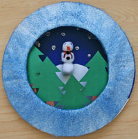 Winter Scene Paper Plate Craft