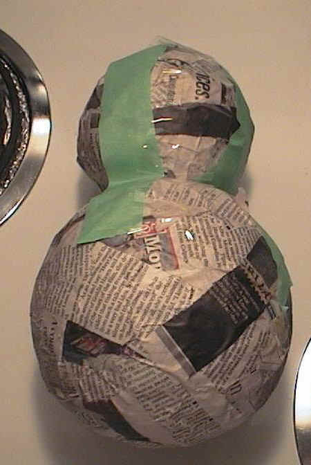 How to make a snowman with paper mache