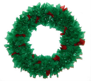 Paper Plate Wreath (Older Version)  sc 1 st  DLTK-Holidays & Christmas Tissue Paper Wreath Craft