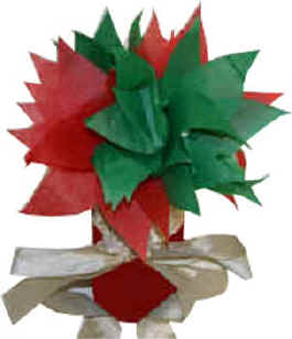 Christmas tissue paper flowers and juice jar vase tissue paper flowers for christmas mightylinksfo
