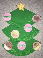 christmas tree paper plate craft - Christmas Tree Crafts For Preschoolers