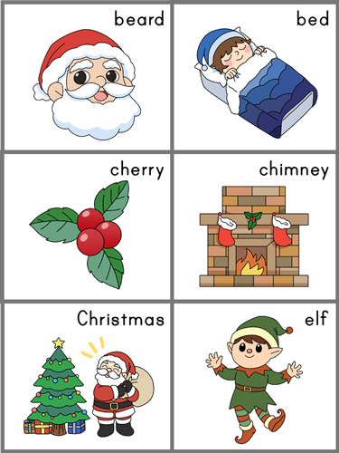 sentence sequencing cards for 'Twas the Night Before Christmas